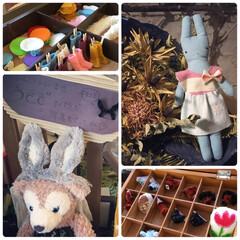 刺繍ブローチ/モールブローチ/モール人形/ハンドメイド/ティアラ/うさぎ/... 今日はフリーマーケット に娘と出店しまし…(1枚目)