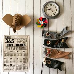 サイズアウトの子供服/リメイク/デニムリメイクこいのぼり/こどもの日/こいのぼり/カレンダー/... デニムリメイクこいのぼり 、 今年も真似…