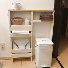 簡単DIY/ペーパータオル/ワンバイ材/脱衣所収納/セリア/DIY/... 先日作った脱衣所の棚をアップデートしまし…