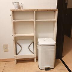 ワンバイ材/脱衣所棚/脱衣所/脱衣所収納/セリア/100均/... 脱衣所に体重計収納を兼ねた棚を作りました…