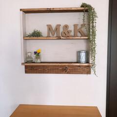 平安伸銅 ナゲシレールブラケット ホワイト KXO-210 W2cm×D1.1cm×H8cm | 平安伸銅工業(棚受け)を使ったクチコミ「おうち時間で、リビングの壁に飾り棚作りま…」