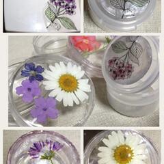 レジン/雑貨/100均/セリア/ダイソー/ハンドメイド 転写シール、貝殻、押し花など、使ってみま…