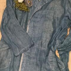 リネン/100均/セリア/ダイソー/ファッション/ハンドメイド シルクリネンのチェスターコートを作って、…
