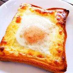 某CM/おうちごはん/朝食/たまご/マヨネーズ/食パン/... 某CMを見て無性に 食べたくなりました(…