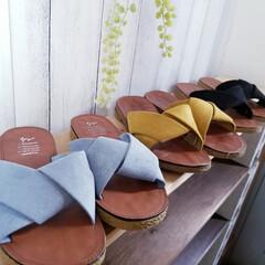 購入品/インテリア/DIY女子/雑貨/玄関/追加購入/... 年齢と共にペタンコ靴&サンダル ばかりに…(2枚目)