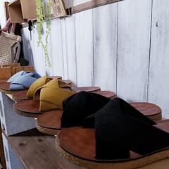 購入品/インテリア/DIY女子/雑貨/玄関/追加購入/... 年齢と共にペタンコ靴&サンダル ばかりに…(4枚目)