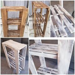 洗面所/SPF1x4/塗り替え/100均/木材カットなし/収納/... DIYを始めたばかりの頃 木材カットとか…(1枚目)