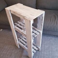 洗面所/SPF1x4/塗り替え/100均/木材カットなし/収納/... DIYを始めたばかりの頃 木材カットとか…(3枚目)
