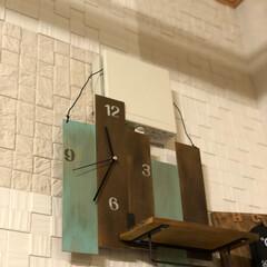 時計DIY/壁面雑貨/フォロー大歓迎/ハンドメイド/雑貨/100均/... DIYを始めた頃に作った時計  もともと…