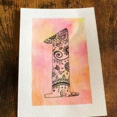 水性ペン/手描きポストカード/手描きイラスト/手描き/ハンドメイド  手描きのポストカード♬  1日の家事が…