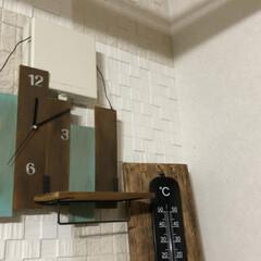 ベニヤ板/時計/DIY/ハンドメイド ベニヤ板を使って 壁掛け時計をDIY  …(2枚目)