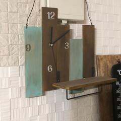ベニヤ板/時計/DIY/ハンドメイド ベニヤ板を使って 壁掛け時計をDIY  …(1枚目)