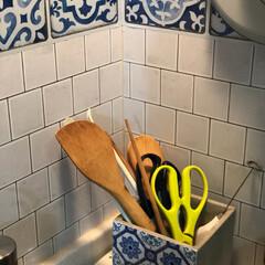 モロッカン/プランター/フォロー大歓迎/キッチン雑貨/雑貨/ニトリ/... 我が家のキッチンツール入れは プランター…(1枚目)