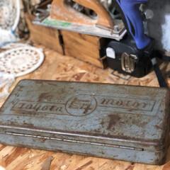大切なもの/リアルサビサビ/古道具/工具箱 父が使っていた工具箱 リアルサビサビでカ…
