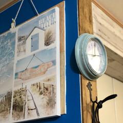 プチプラ雑貨/時計ペイント/時計リメイク/フォロー大歓迎/雑貨/インテリア/... 300円で買った時計を ペイントリメイク…