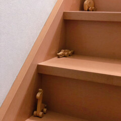階段/おもちゃ/動物モチーフ/雑貨/100均/動物モチーフグッズ 動物モチーフの木製のおもちゃ  100均…
