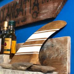 プレゼント雑貨/プレゼント/サーフィン/フォロー大歓迎/ハンドメイド/雑貨/... サーフィンのフィンを 木材加工してある雑…