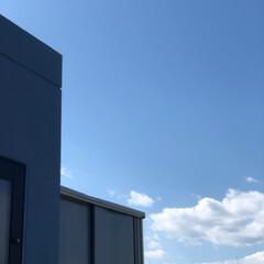 屋上/ひなたぼっこ/休日の過ごし方/住まい/暮らし 我が家の屋上からみたアオゾラ  今の季節…