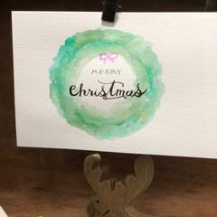 手描き/クリスマスカード/レタリング/クリスマス2019/フォロー大歓迎 レタリングでメリークリスマス🎄  クリス…