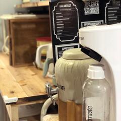 炭酸水メーカー ドリンクメイト ベーシック 洗浄スポンジ付き | シナジートレーディング(炭酸水メーカー)を使ったクチコミ「我が家のキッチン家電  炭酸水メーカーの…」