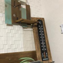 ベニヤ板/時計/DIY/ハンドメイド ベニヤ板を使って 壁掛け時計をDIY  …(3枚目)