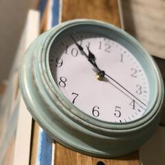 リメイク/掛け時計リメイク/掛け時計/フォロー大歓迎/雑貨/わたしのお気に入り 300円で買ったプチプラ時計を 汚しペイ…