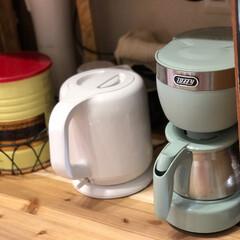記念品・大量購入の見積歓迎向けToffy 4カップコーヒーメーカー ペールアクア 台所/便利/調理に! | Toffy(ジューサー、ミキサー、フードプロセッサー)を使ったクチコミ「toffyのキッチン家電 フォルムやカラ…」
