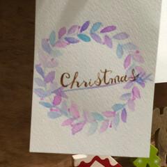 レタリング/ハンドレタリング/手描き/クリスマスカード/クリスマス2019/ハンドメイド/... ハンドレタリングで クリスマスカード♬ …