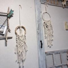 壁面ディスプレイ/マクラメタペストリー/雑貨/ハンドメイド たくさんマクラメタペストリーを 編み編み…