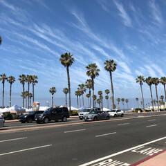ハンティントンビーチ/アメリカ/GW/おでかけ/旅行/風景/... アメリカ🇺🇸での車の運転は 右側車線・ハ…