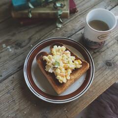 幸せごはん/トースト/トーストアレンジ/朝ごパン/朝食/たまごサラダ/... 幸せ わたしのごはん  どうしても食べた…
