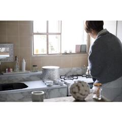 リメイクシート/撮影/ダイソー/100均/DIY/キッチン雑貨/... 〜interior〜 撮影② 白湯を入れ…