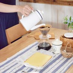 琺瑯/琺瑯バット/カフェタイム/コーヒー/手作りおやつ/セリア/... 手作りチーズケーキでカフェタイム^^  …