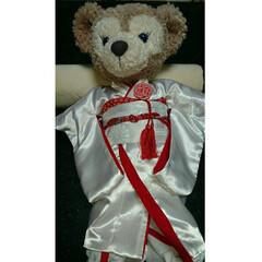 ウェルカムベアー/結婚式/和装/着物リメイク/ハギレ/ダッフィー/... 結婚式のウェルカムベアーの衣装を手作りし…(5枚目)