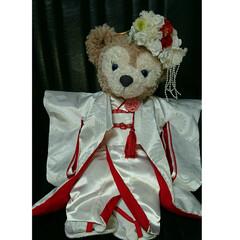 ウェルカムベアー/結婚式/和装/着物リメイク/ハギレ/ダッフィー/... 結婚式のウェルカムベアーの衣装を手作りし…(3枚目)