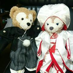 ウェルカムベアー/結婚式/和装/着物リメイク/ハギレ/ダッフィー/... 結婚式のウェルカムベアーの衣装を手作りし…