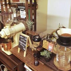 カフェ風/カフェ雑貨/セリア/ドリップスタンド セリアのアイテムでドリップスタンドをパワ…