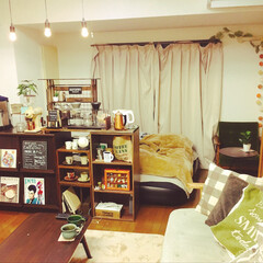 一人暮らし/1K/リフォーム/DIY/雑貨/100均/... 1Kの狭い部屋でも精一杯DIYを楽しんで…