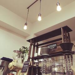 1K/うちカフェ/珈琲/DIY/雑貨/100均/... 一日がここから始まる珈琲スペースです。 …