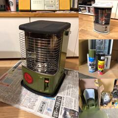 アウトドア/冬インテリア/DIY トヨトミストーブを耐熱スプレーとシリコン…