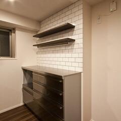 新築オプション工事/キッチン/収納棚/キッチンキャビネット/クリナップ  キッチンキャビネットはステンレスのデザ…