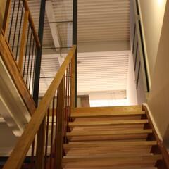 リノベーション/階段/吹き抜け/リフォーム 吹き抜けの階段。
