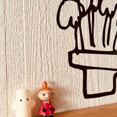 ウォールステッカー/ムーミン/ニョロニョロ/ミー/ユイちゃん  みてるー〜〜❣️ スナフキンが いなー〜〜い