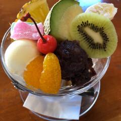 カフェ/スイーツ/おでかけ 食べ物ばかり  ( *´艸`) 伝説のモ…(2枚目)
