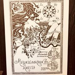 70×50/ムーミン/北欧 ムーミン谷の地図  ポスター 見つけちゃ…
