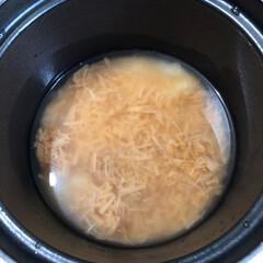 なめ茸炊き込みごはん/ル・クルーゼ/おうちごはん なめ茸ごはん🍚を  ル・クルーゼの お鍋…