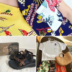 夏フェスに 備えて/レオパード柄サンダル/夏だから  白Tシャツ/ハワイアン柄スカート/アロハ/AURA/... 5月20日 今日は、娘の誕生日🎂 プレゼ…