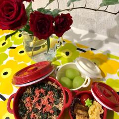 そうちゃんカレンダー/シャインマスカット/お弁当/ペット すご〜く久しぶりに 娘のお弁当を作りまし…