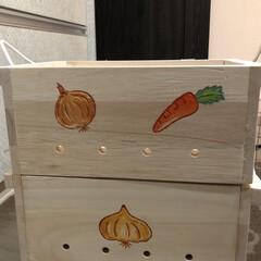 野菜ストッカー/いつもありがとう/木工作家じいや/リミ友 お野菜ストッカー🙌🙌 モニターです🧅🧅🧅…(2枚目)
