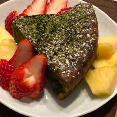 娘ごはん/バレンタインチョコケーキ/バレンタイン/バレンタイン2019 今日は、娘が  パパさんに バレンタイン…
